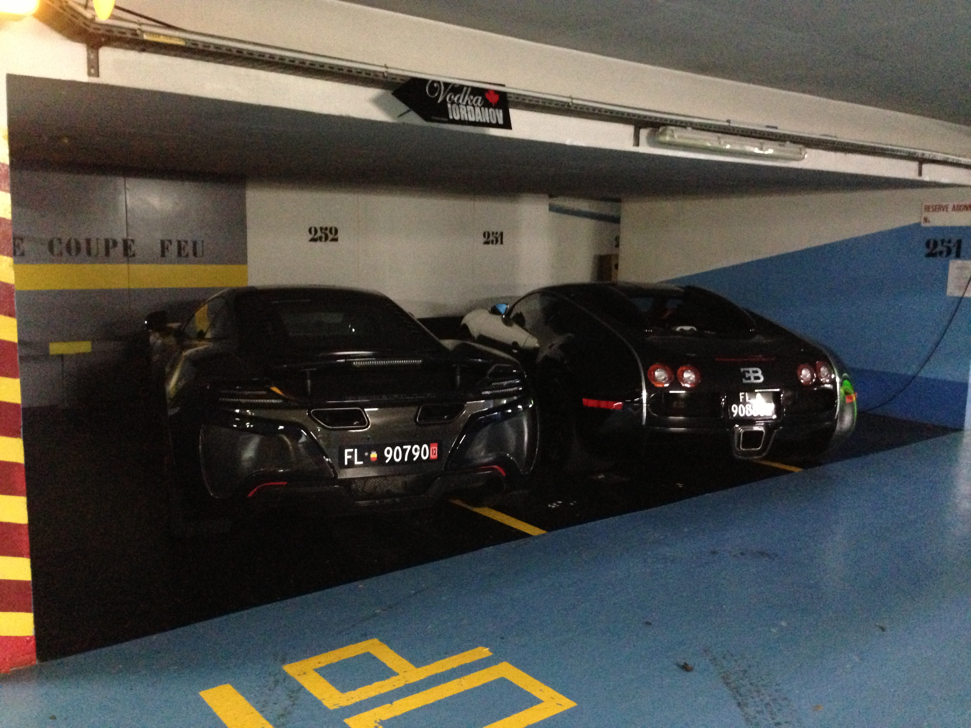 Monaco underground parking is lol... Can