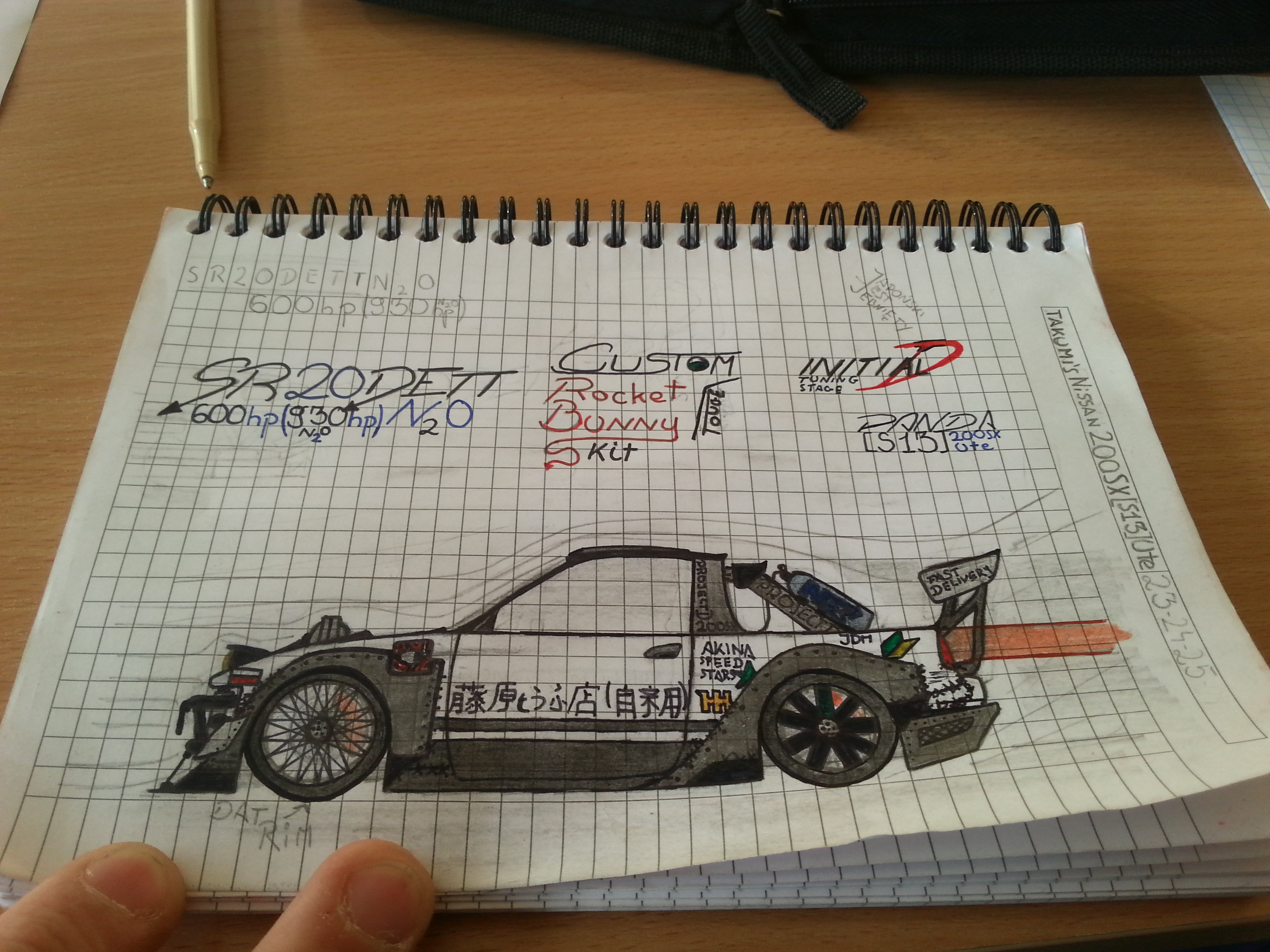 I was bored on lessons so I decided to draw my dream car. What do ...