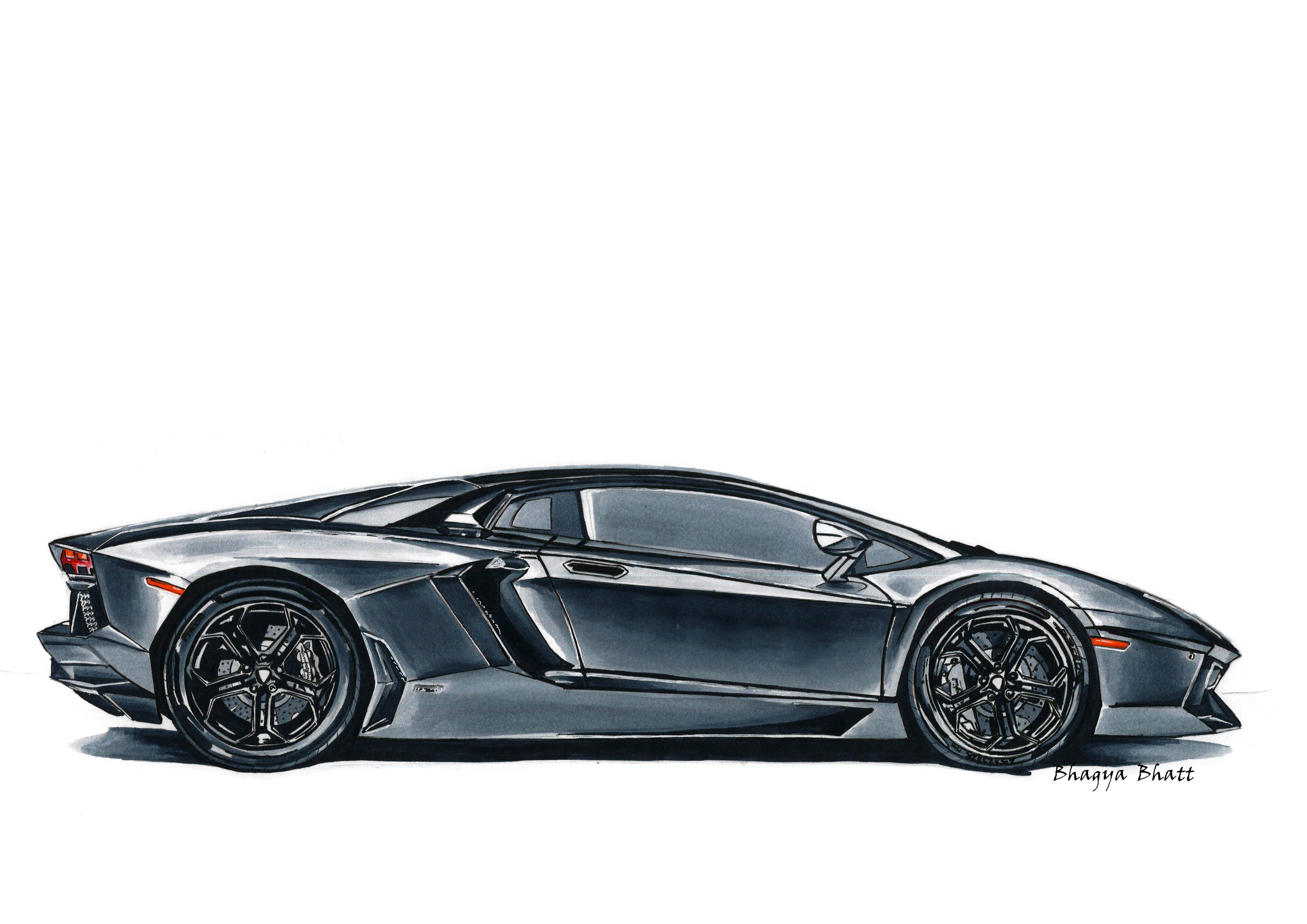 Lamborghini Aventador Marker Render