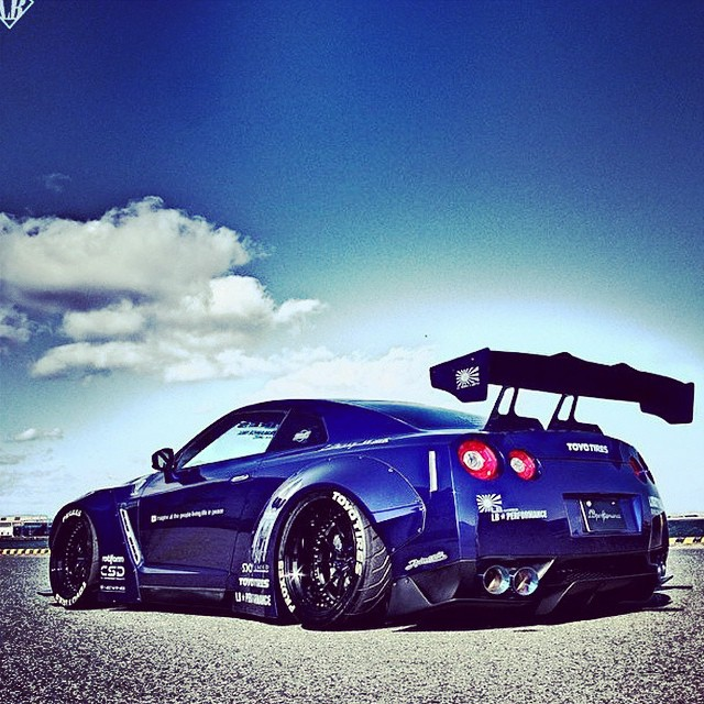 What A Monster Wide Body Nissan Gt R