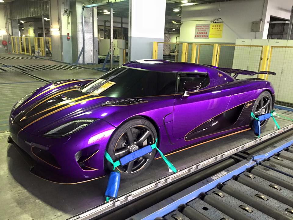 Bright Purple Agera With REAL GOLD Details