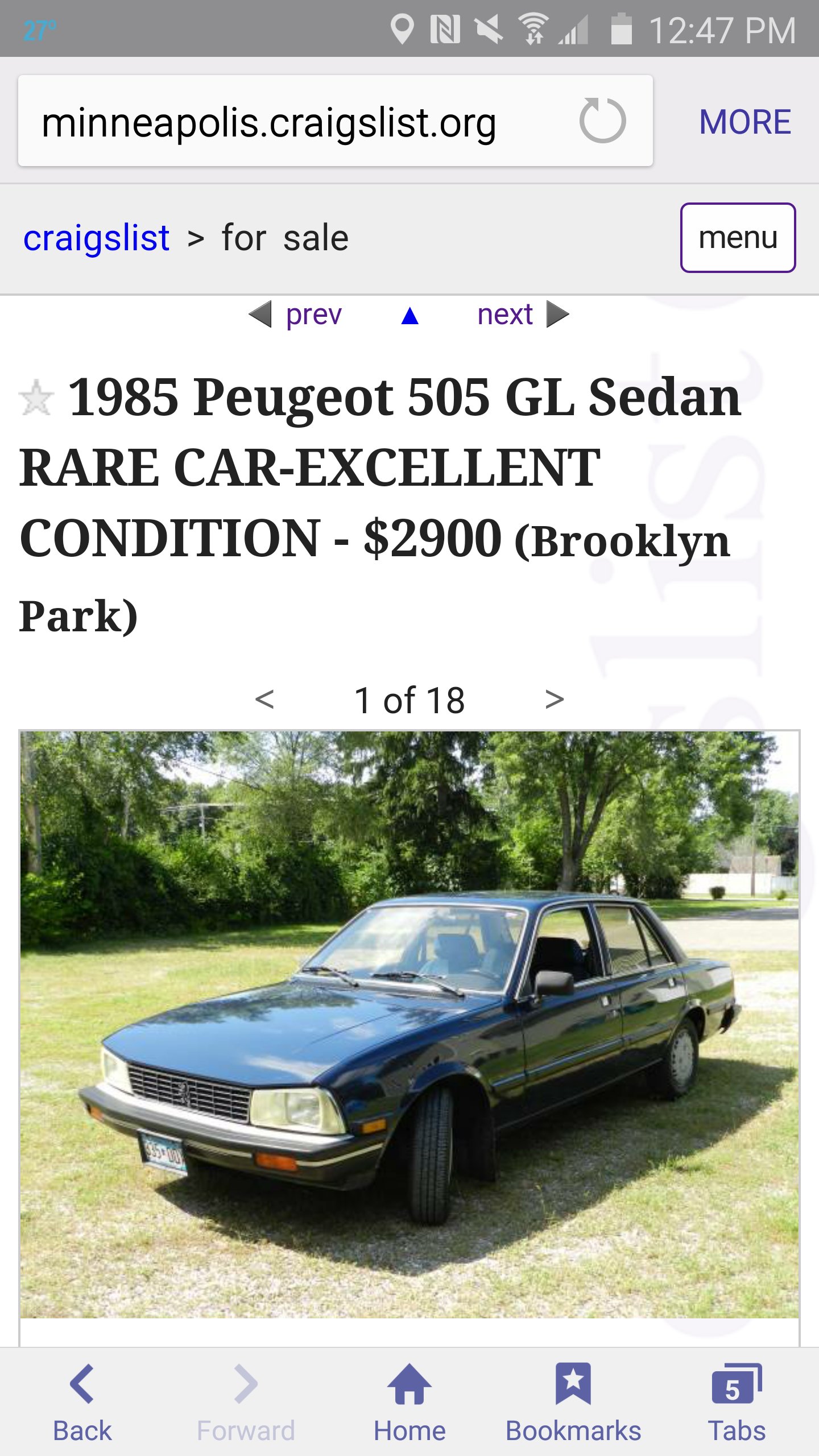 Had to do a double take seeing this on craigslist in ...