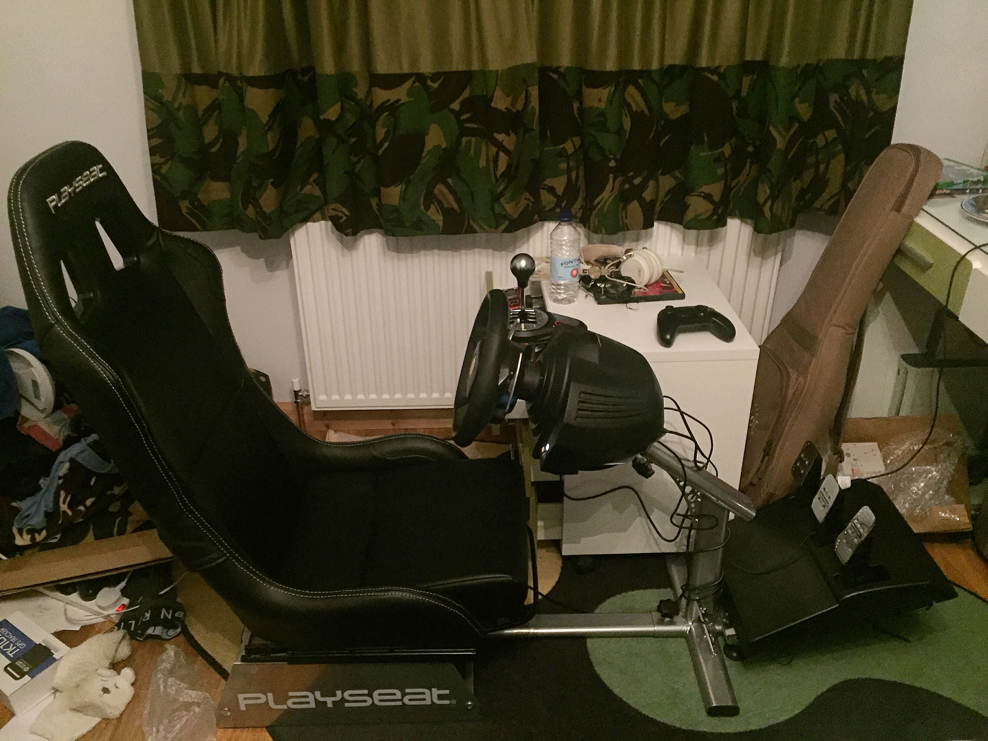 No car parts this year but mad race car set up for my bedroom