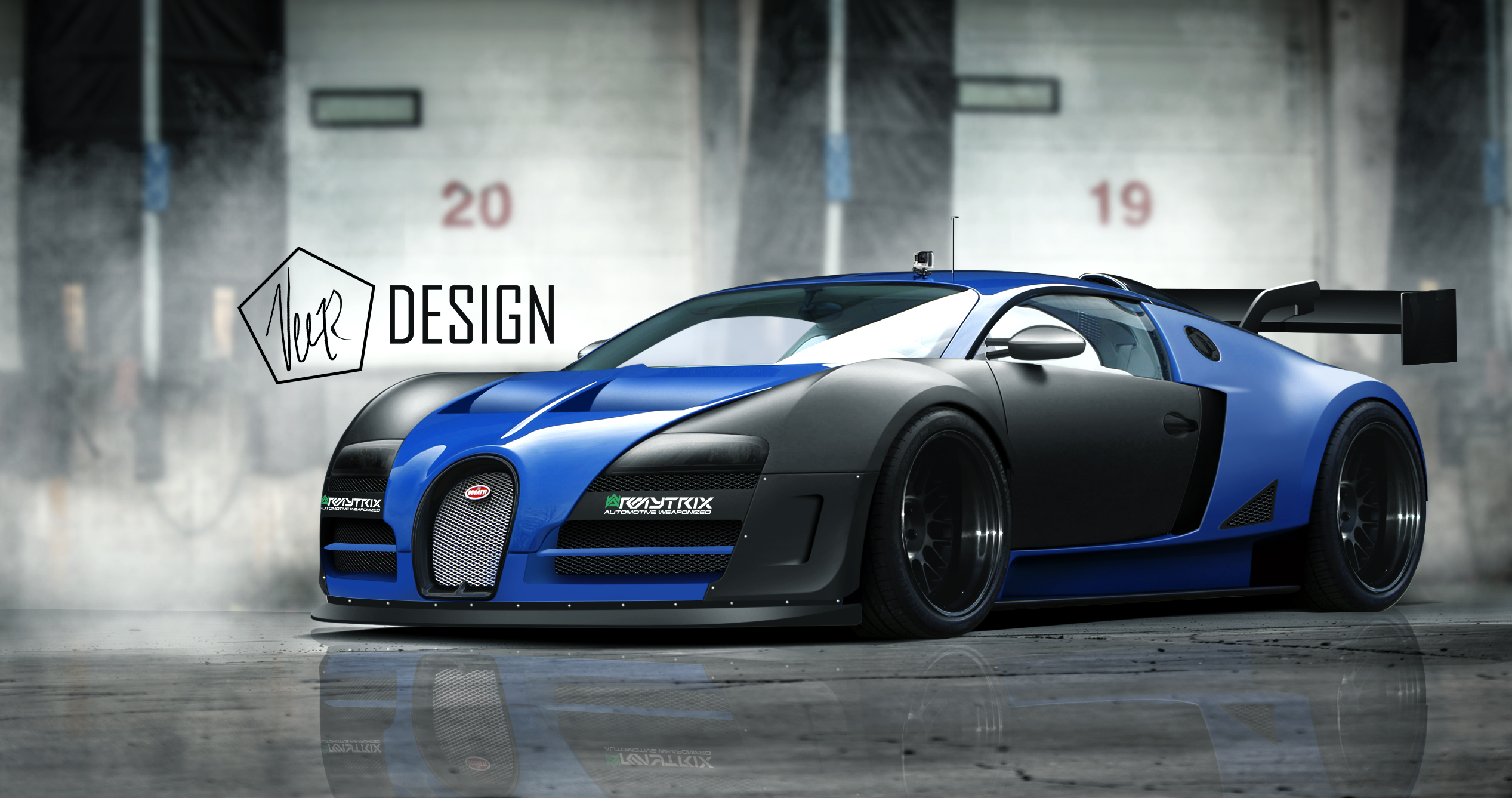 Bugatti Veyron Photoshop Render Merry Christmas To The Ct