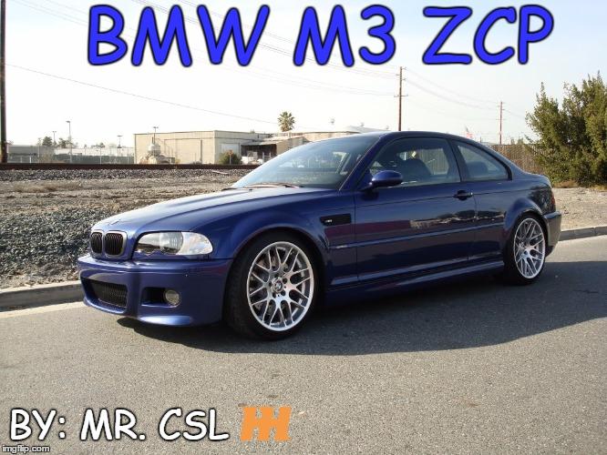 2005 BMW M3 ZCP 29th Birthday Special blogpost