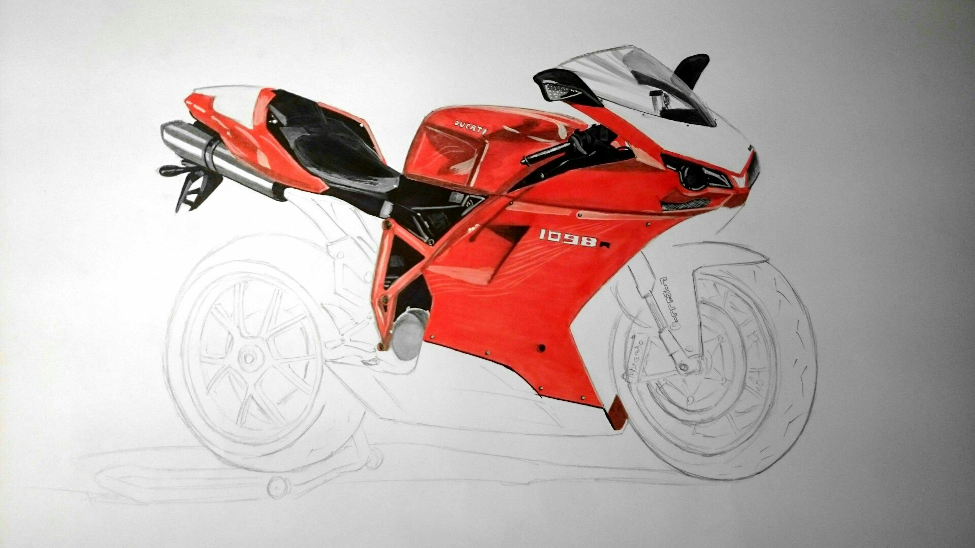 My Ducati 1098r Drawing So Far
