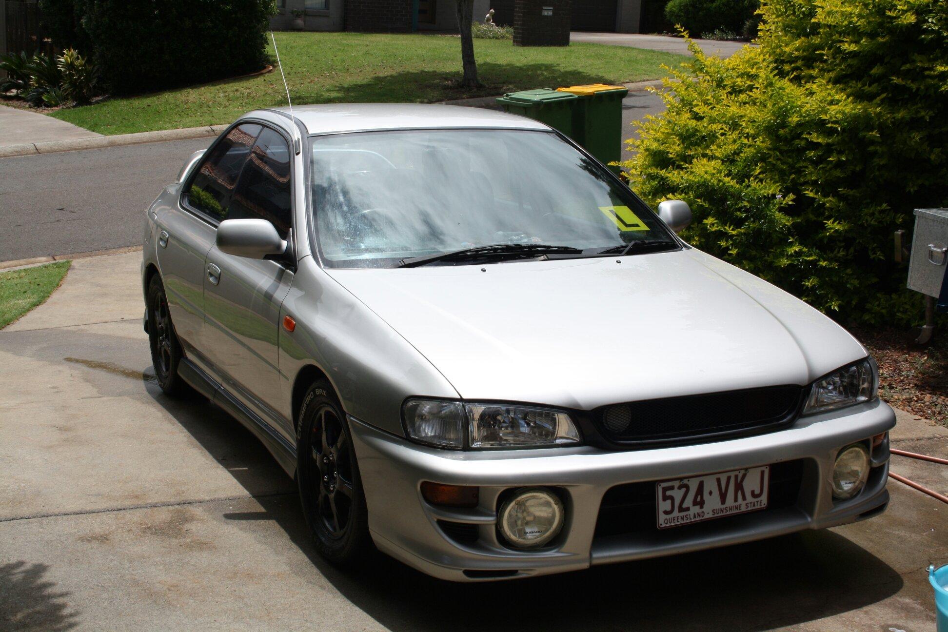 subaru impreza rx 1999, first car 😍