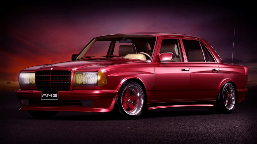 Mercedes benz w123 amg 6 0 widebody straight from the 80s for Mercedes benz 80s