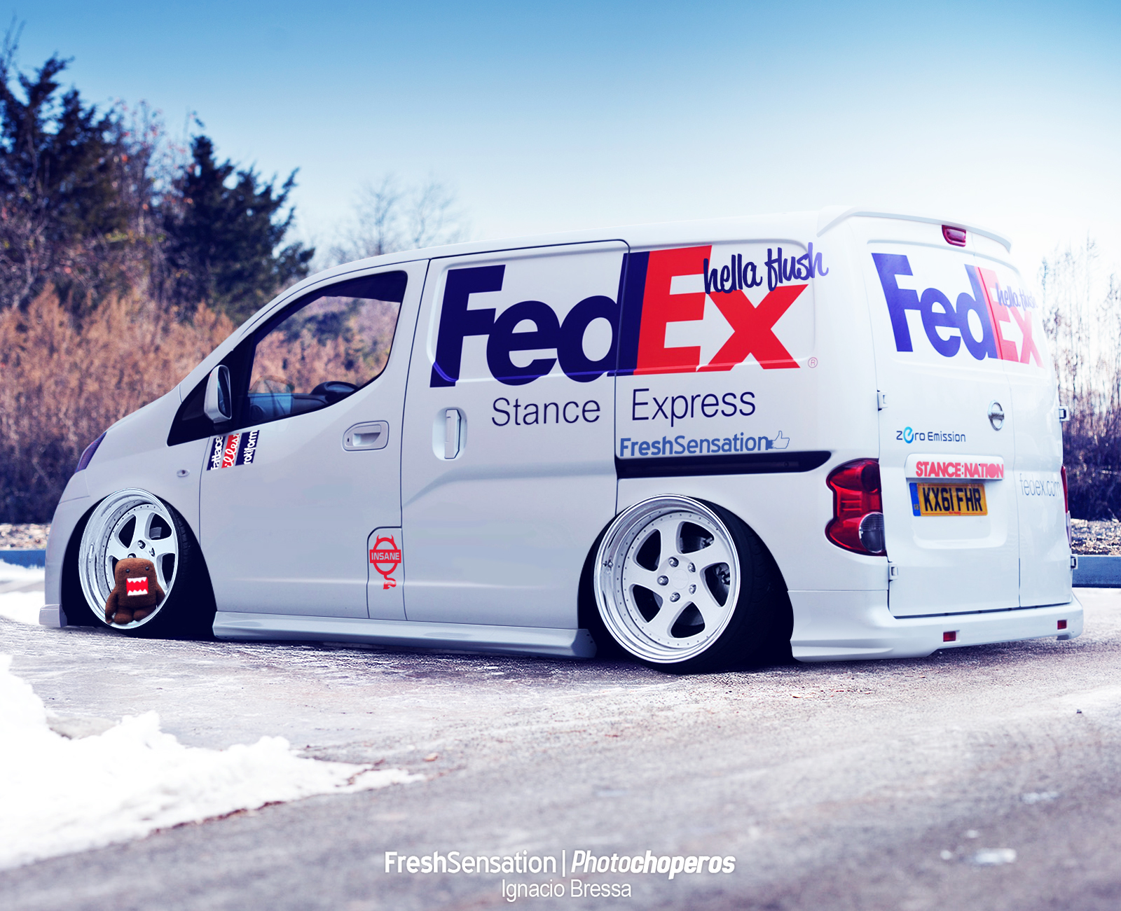 Stanced Nissan NV200