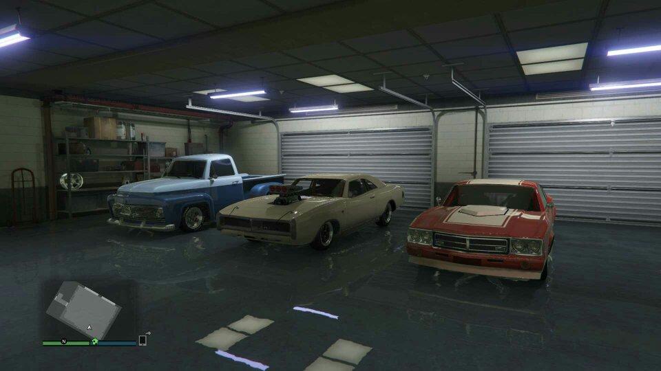 Muscle Car Garage In Gta V