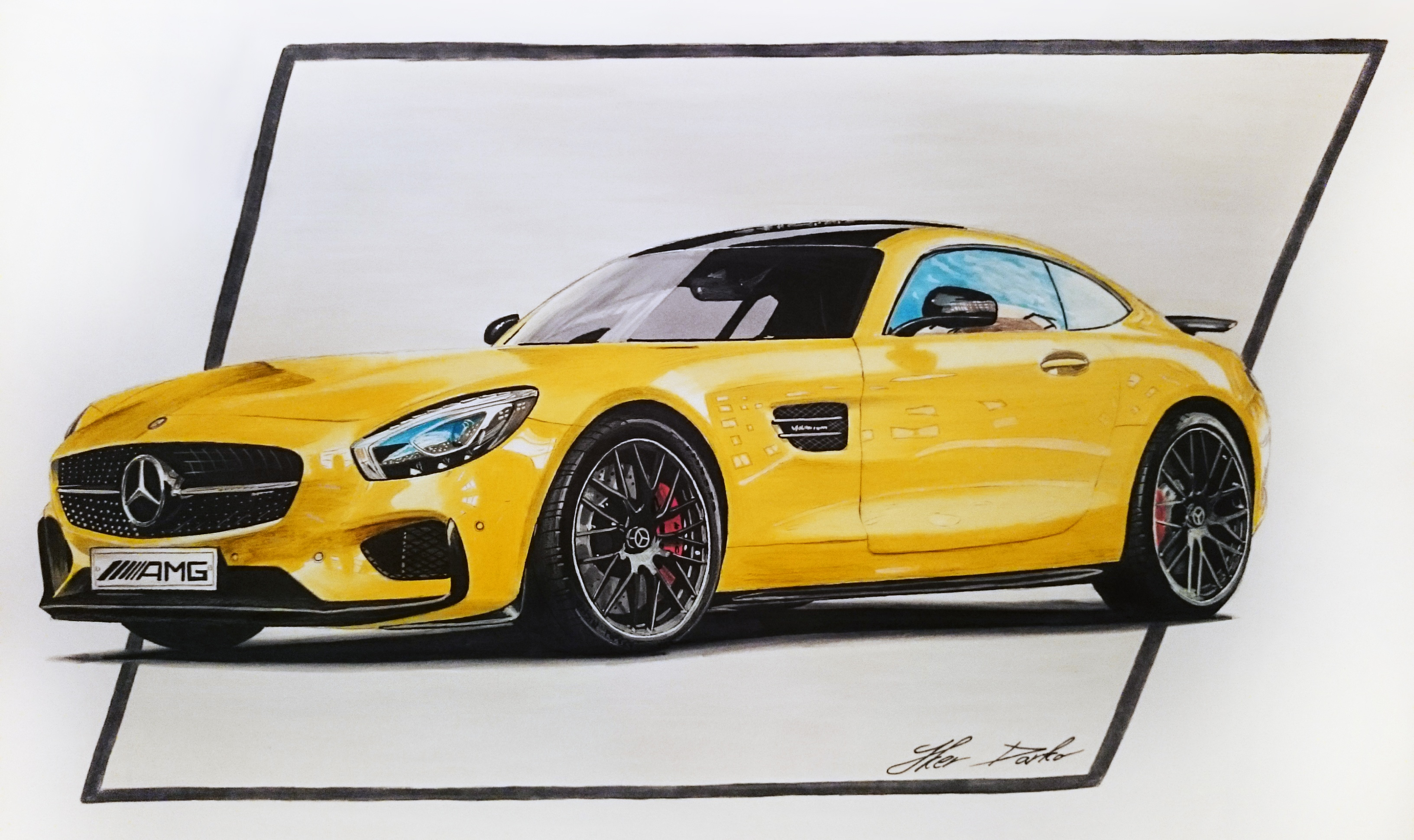 Mercedes amg gt s 50x35cm 7 hours of work fb page car for Mercedes benz hours