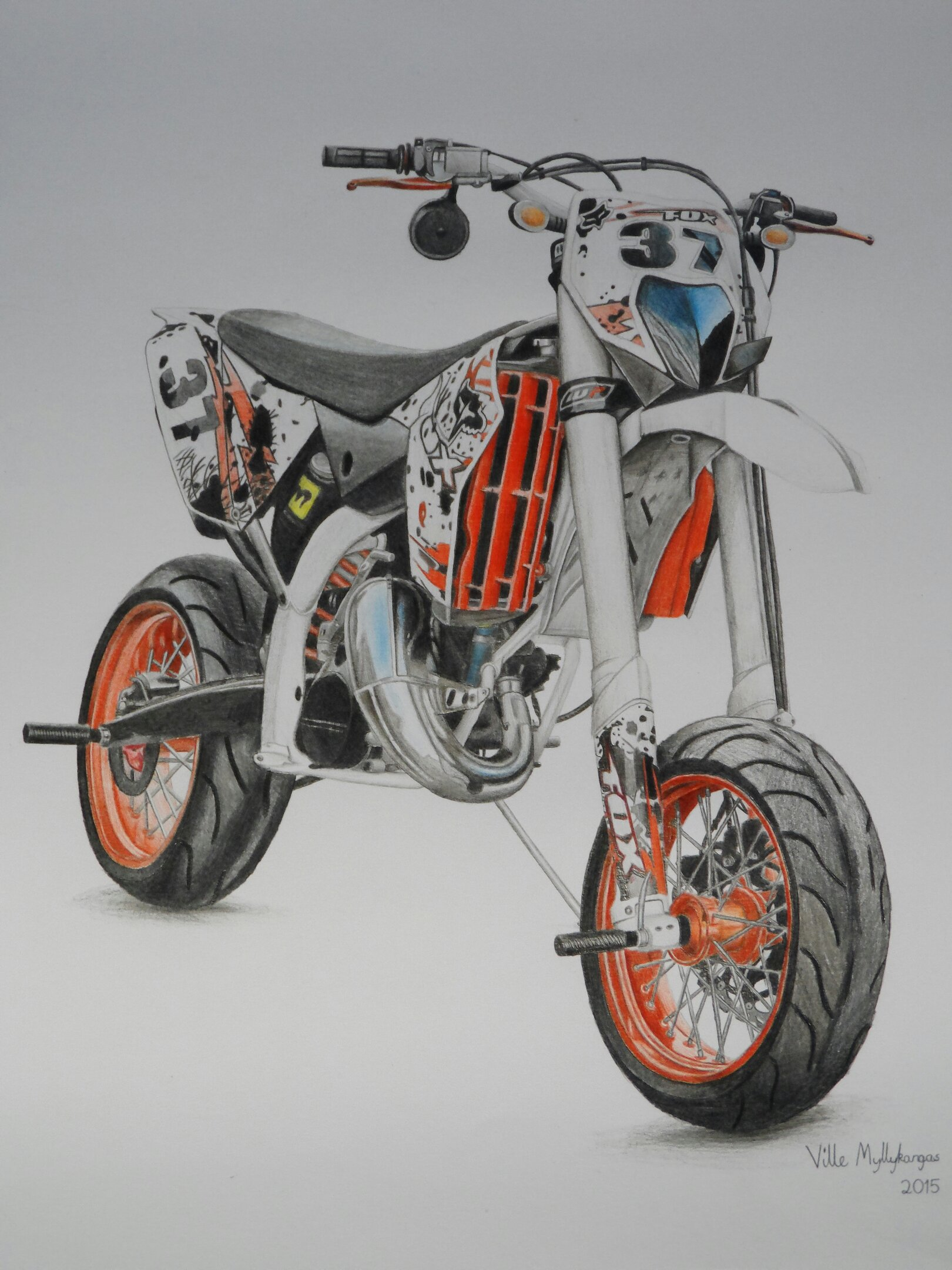 my drawing of a ktm 125 exc. Black Bedroom Furniture Sets. Home Design Ideas