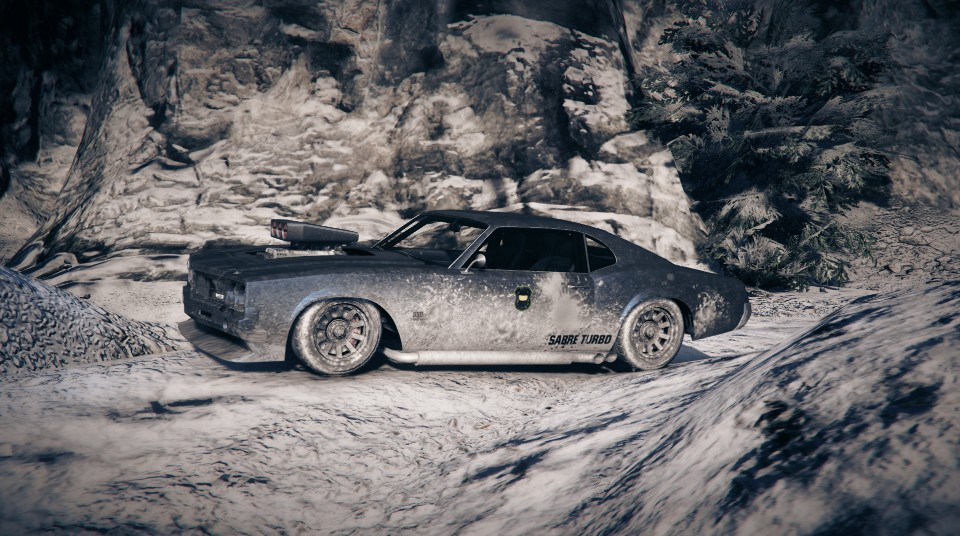 This Is My Hoonmachine For The Gta5 Snow Dlc Bkz Muscle Car Post