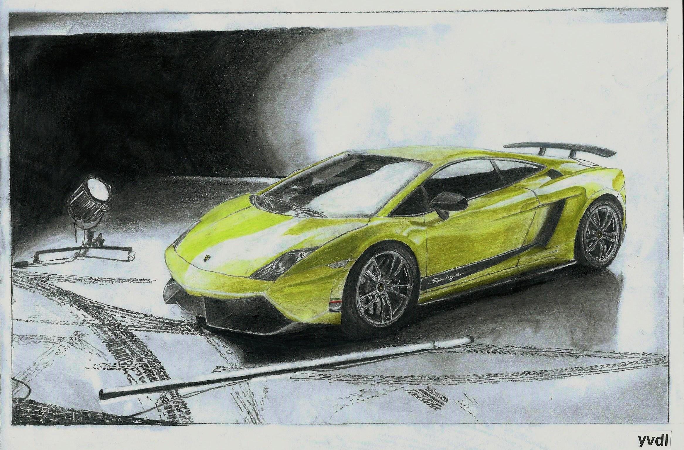 Drawing Of A Lamborghini Gallardo Lp570 4 Superleggera