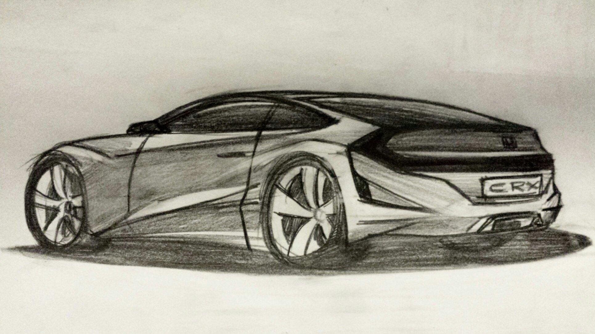 Honda Crx Concept Sketch