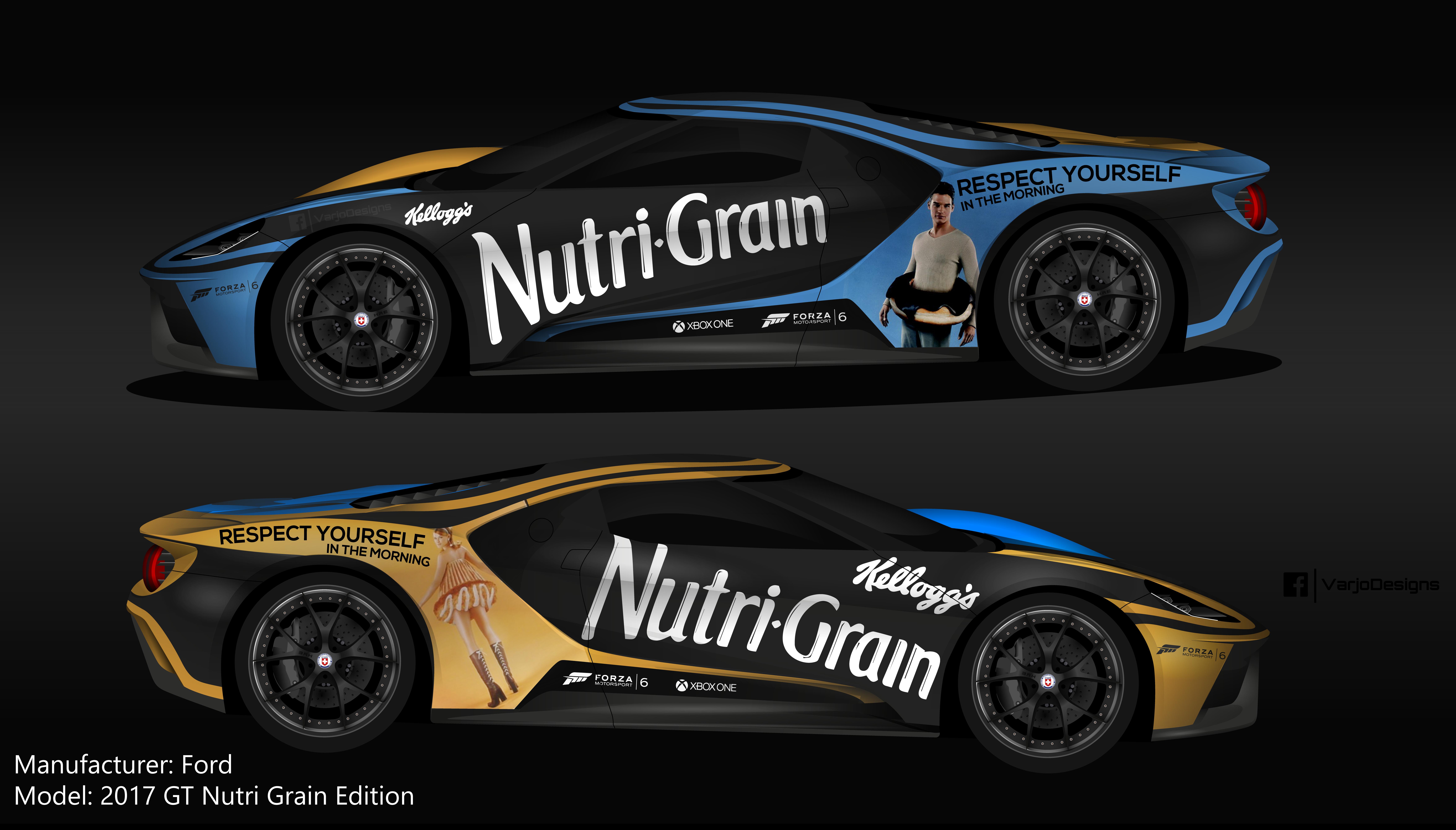 Ford Nutri Grain Ford Gt For Forza Motorsport  Car