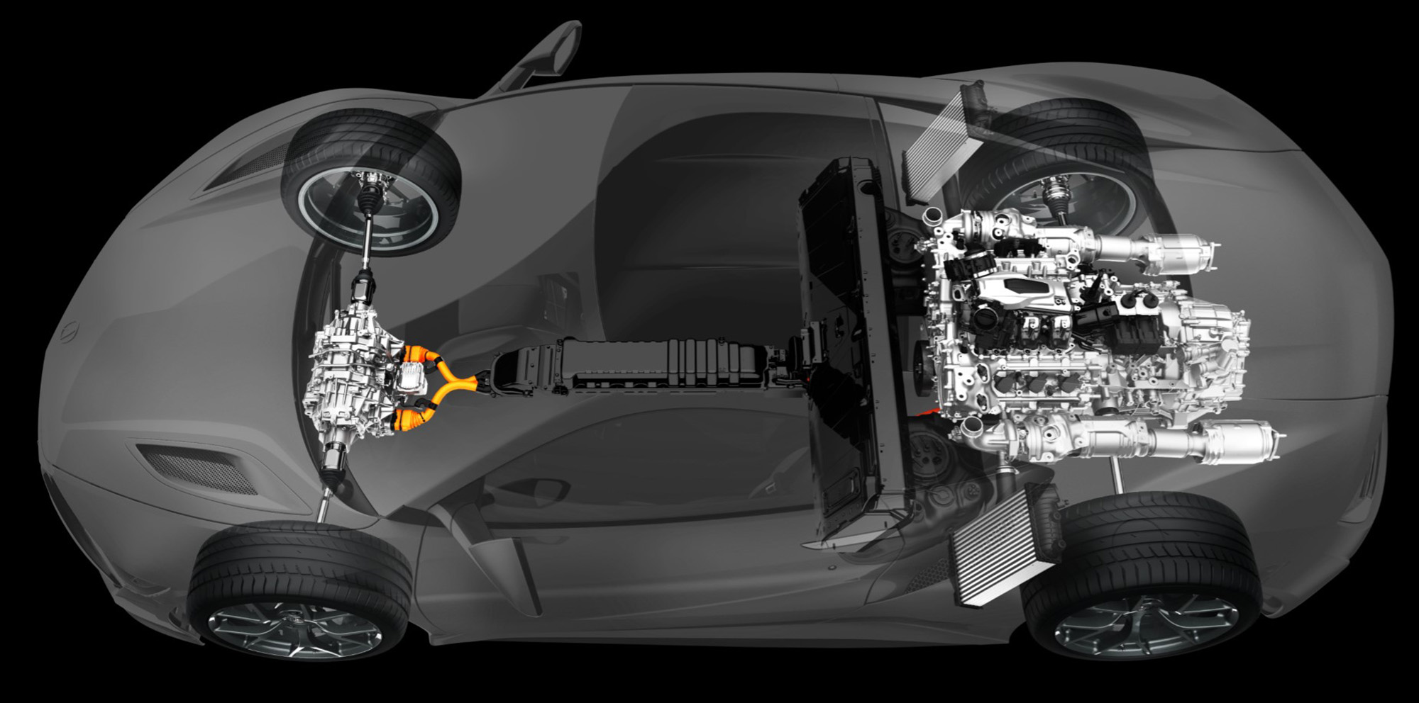 honda acura nsx concept with longitudinal rear mid engine mount