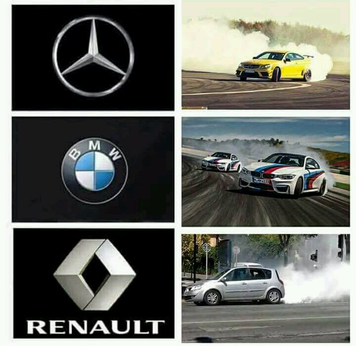 BMW VS MERCEDES VS RENAULT OUT