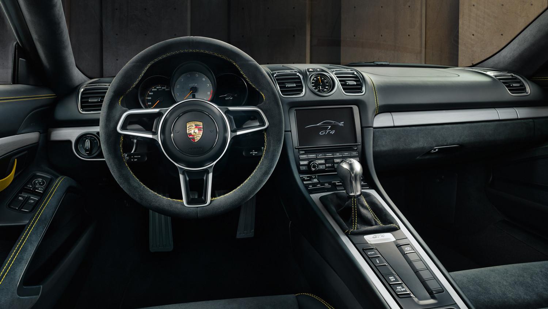 New Porsche Cayman GT4. Interior