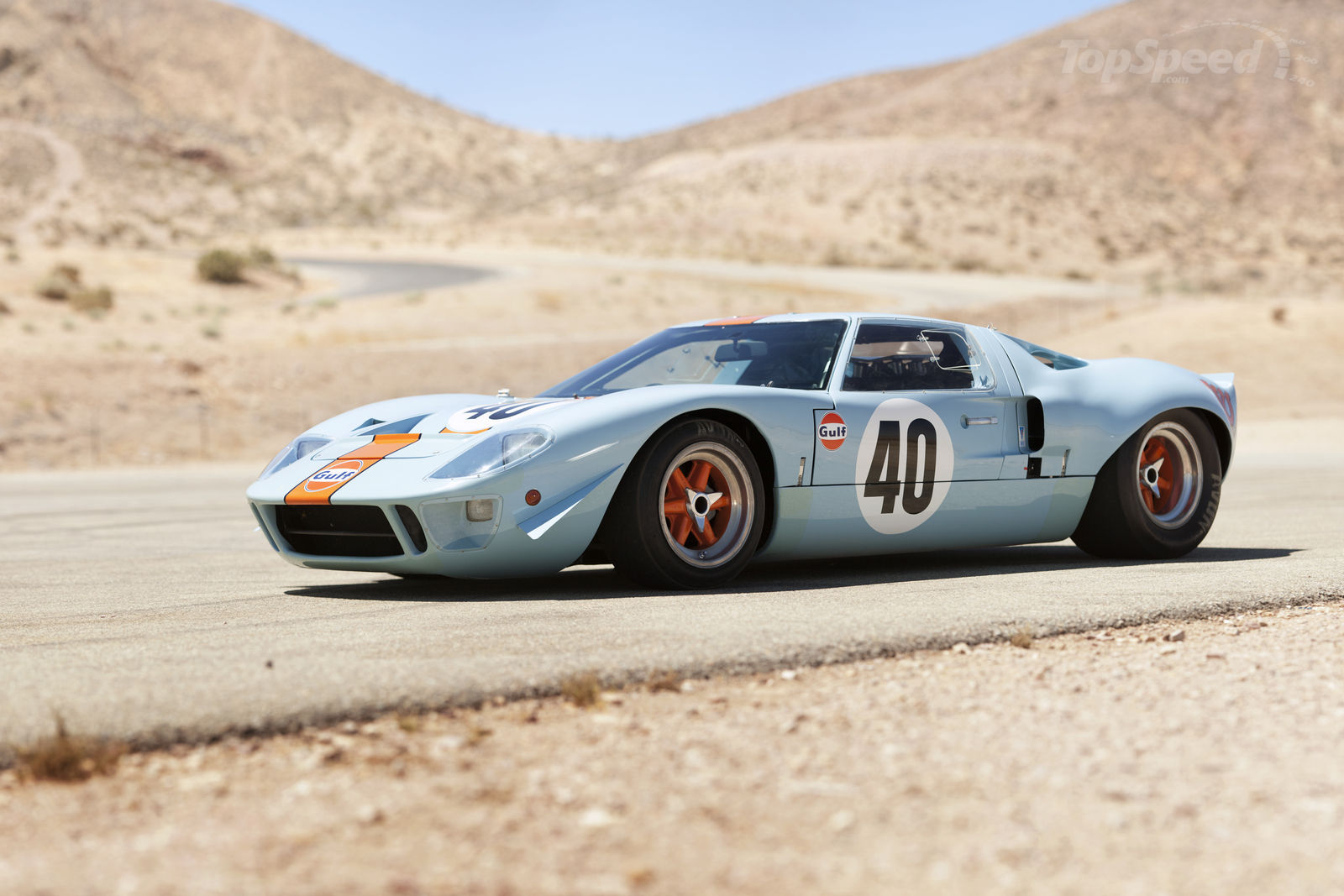 Ford Old Ford Gt In Gulf Oil Colors Wallpapers