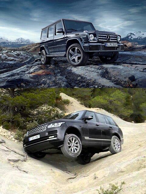 mercedes benz  class  range rover vogue