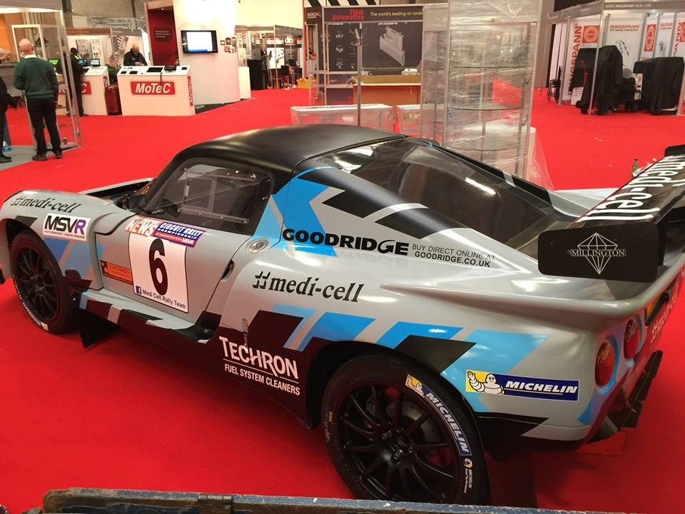 Setting up for the Autosport show yesterday, the car is on