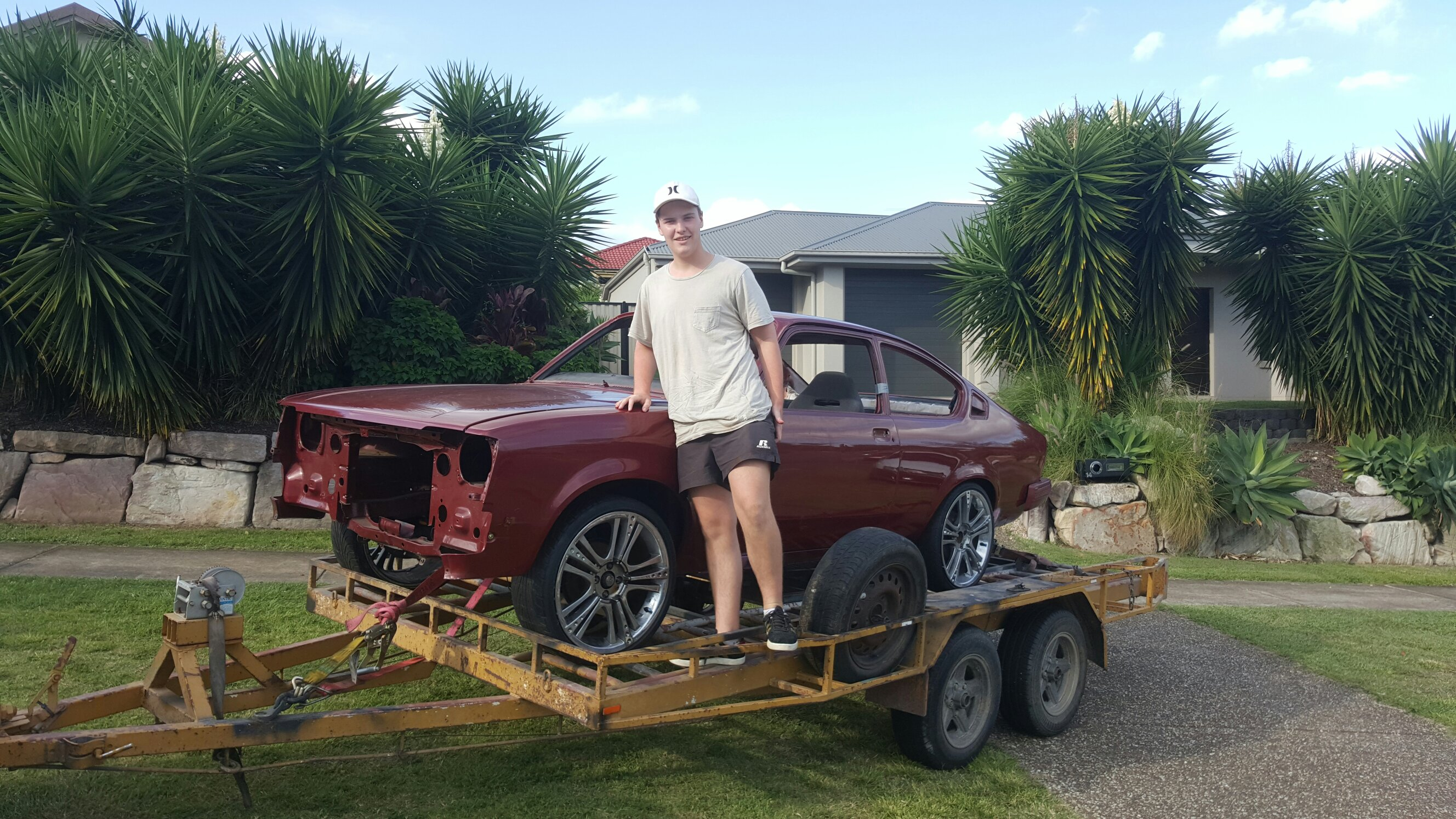 First car, 1977 tc Holden Gemini coupe with a 1984 front end. Made ...
