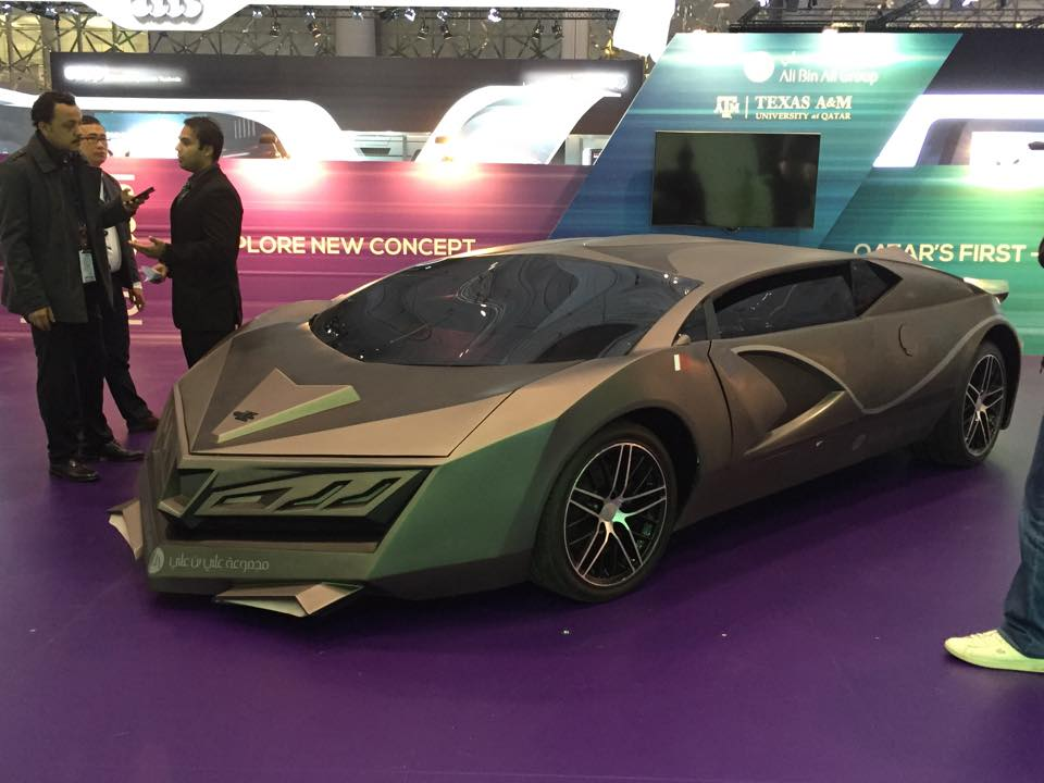Qatar\'s First Concept Car built by a university student.