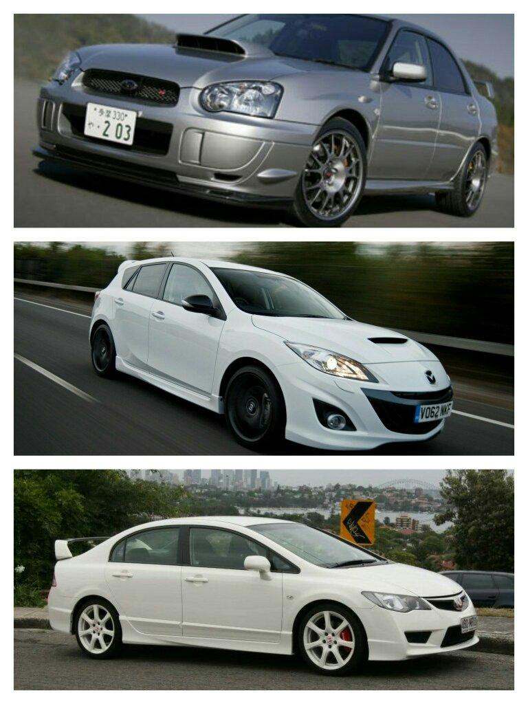 Car battle 1  Subaru wrx Sti s203 2  Mazda 3 mps/ Mazda