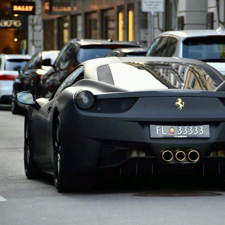 Matte Black And Gold 458