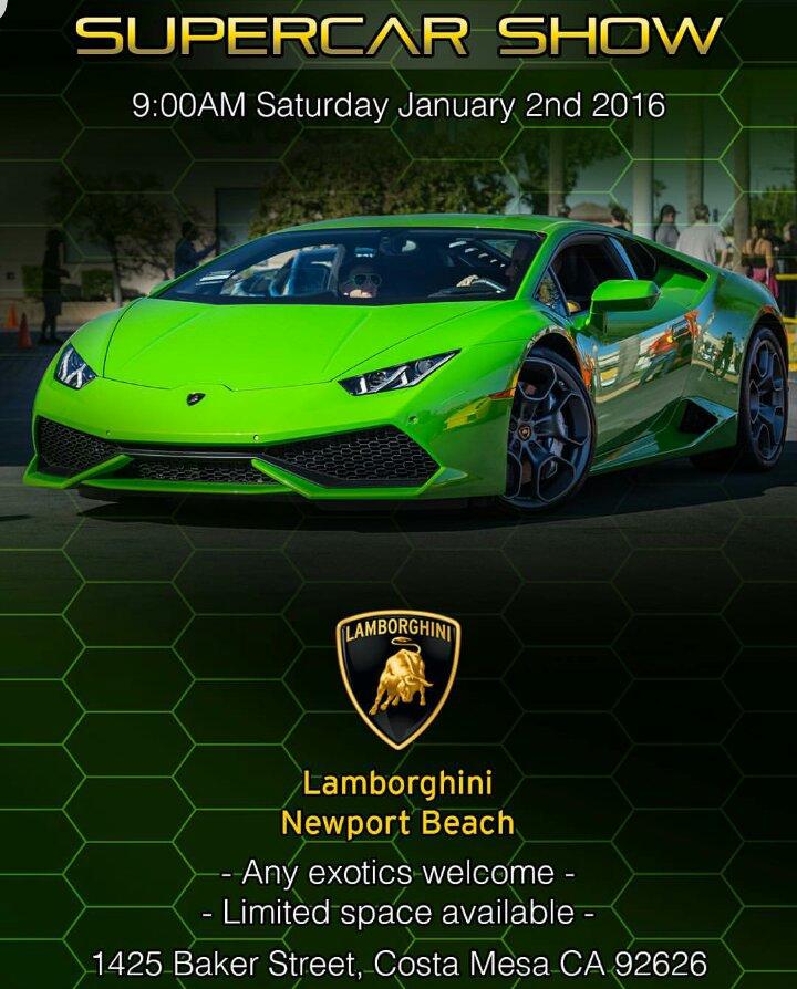 Lamborghini Newport Beach Super Car Show Lamborghininewportbeach