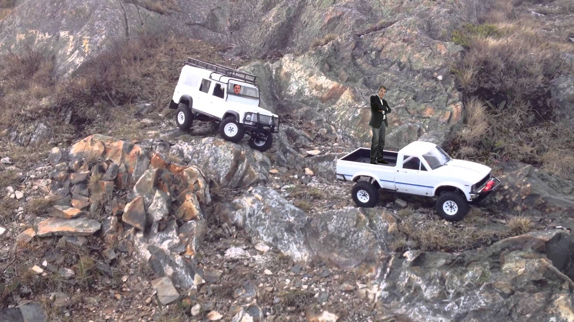 Land Rover Defender with Ethan Smale against Jeremy Clarkson