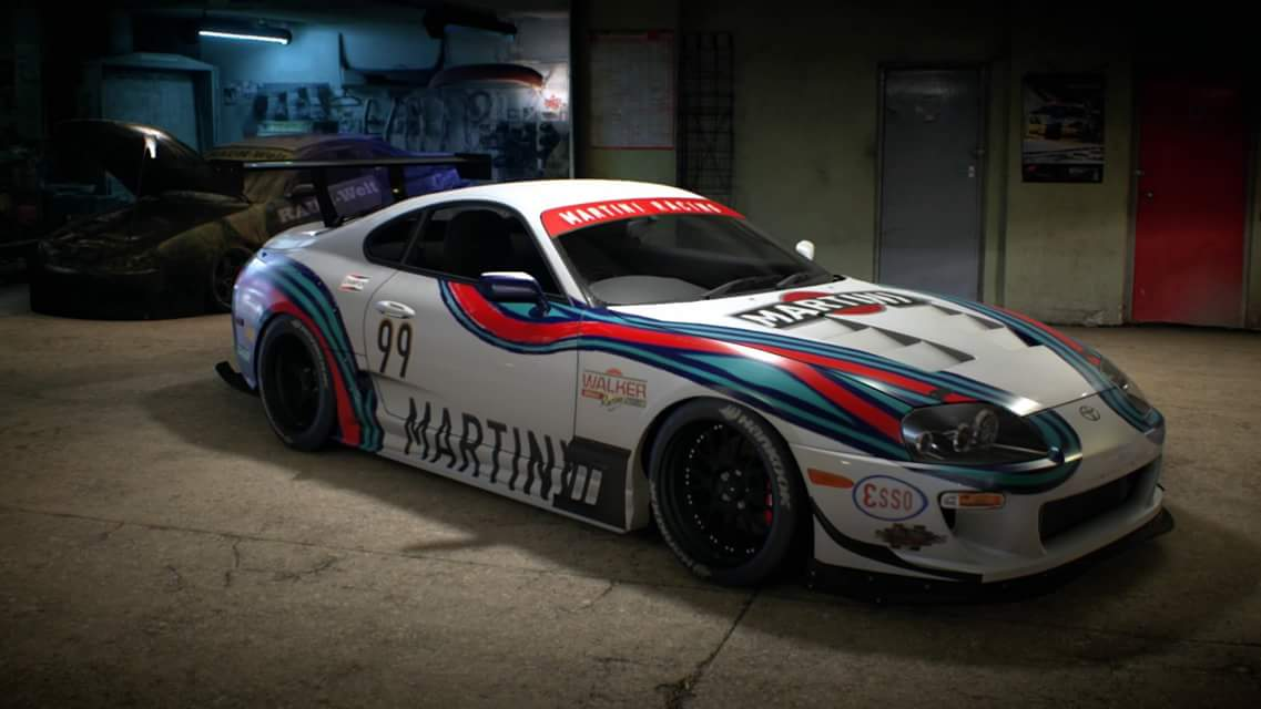 Toyota Supra Martini Racing Livery Made By Myself In Nfs 2015 More Cars Coming Soon