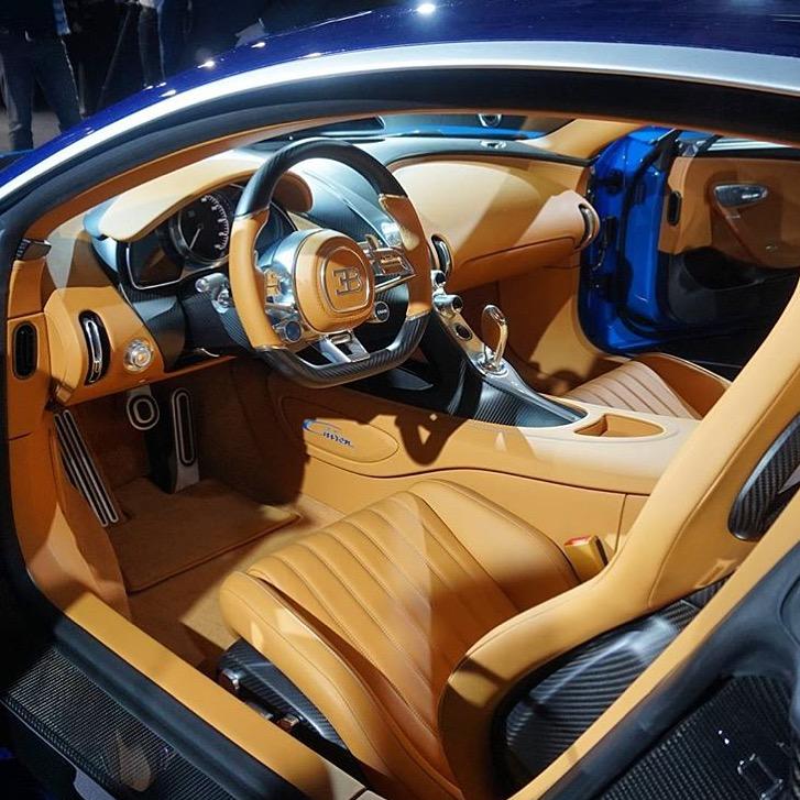 Inside The Bugatti Chiron At The Geneva Motor Show