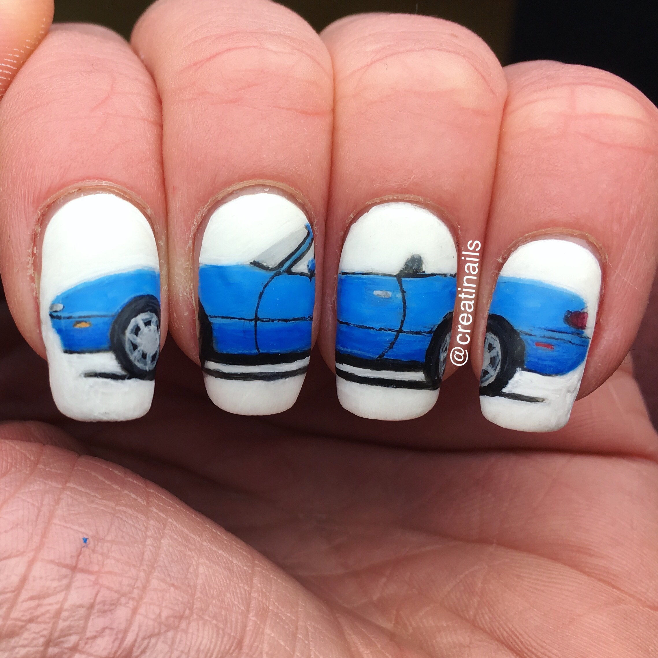 Miata NA! I\'ve also got a Facebook page, called Nail-Art by Annelief ...