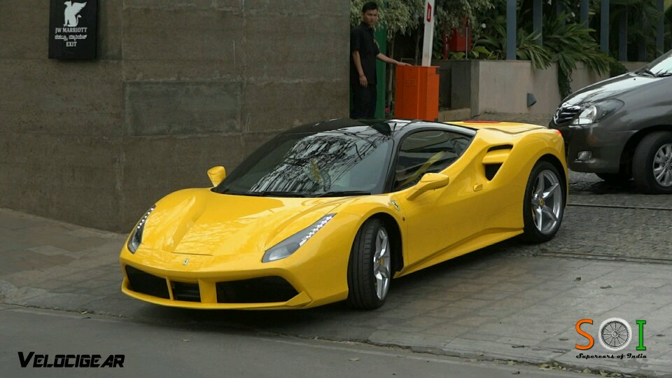 A yellow ferrari 488 gtb spotted in India! Follow www.youtube.com/c
