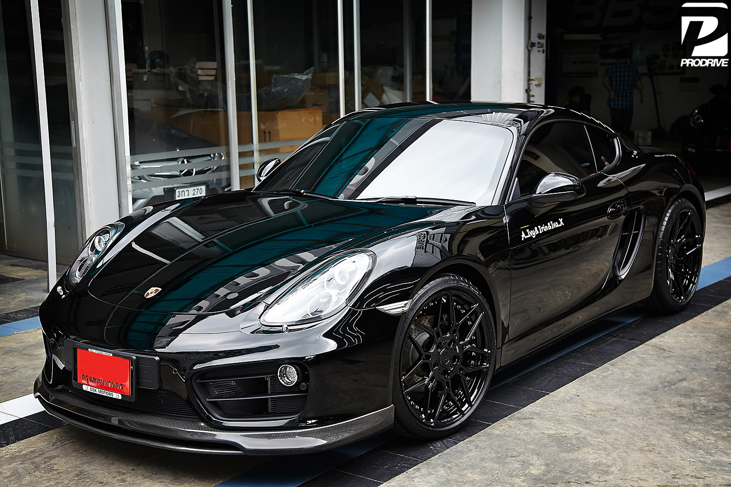 porsche cayman 981 with new adv 1 wheels. Black Bedroom Furniture Sets. Home Design Ideas