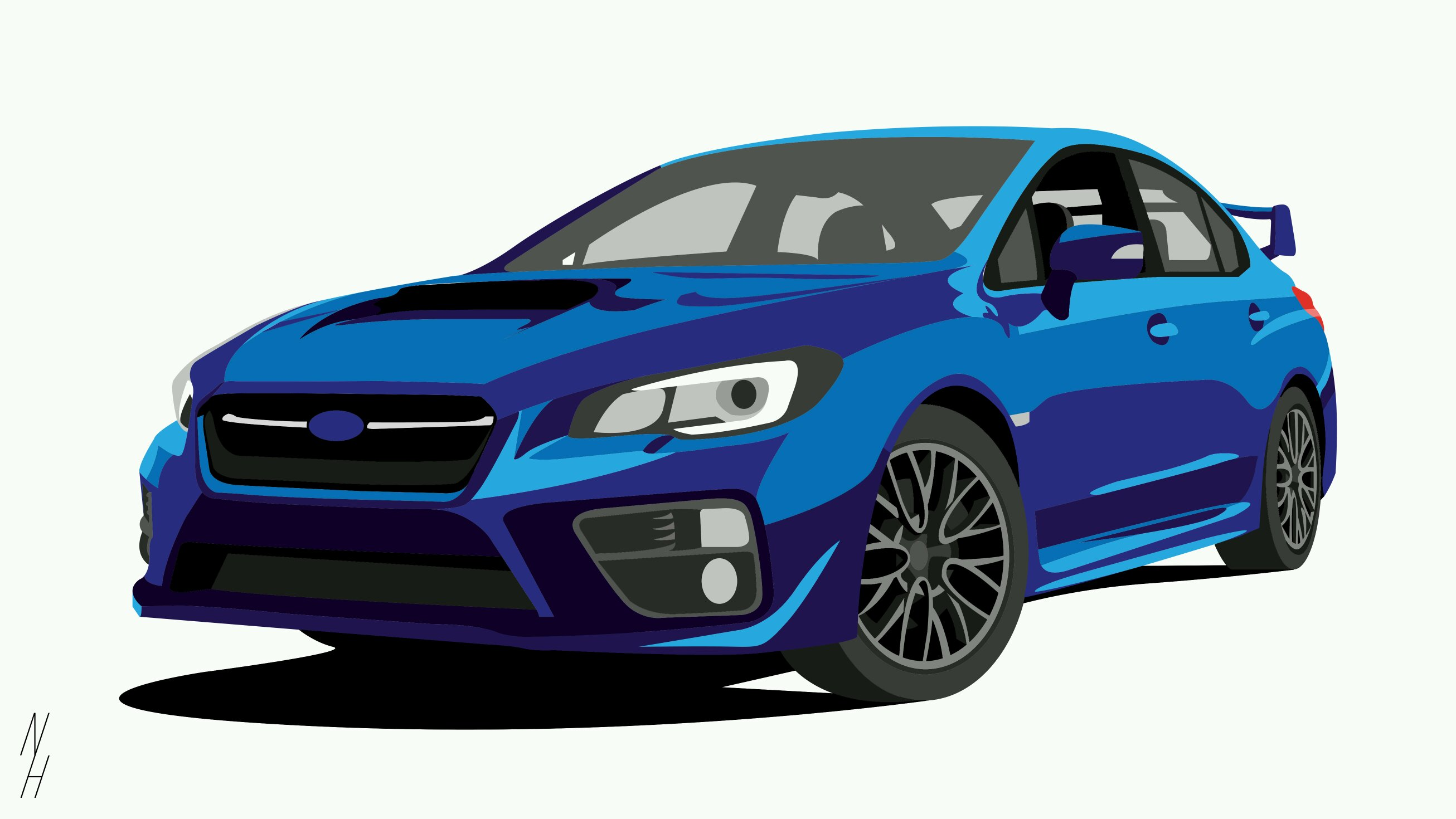 Subaru subaru impreza wrx sti illustration made by me car art