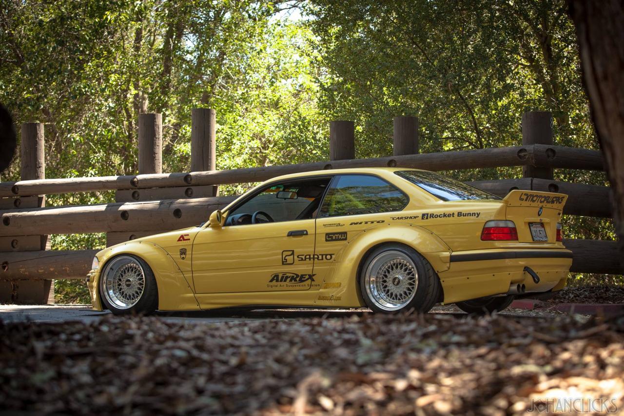 BMW E36 Rocket Bunny looks good