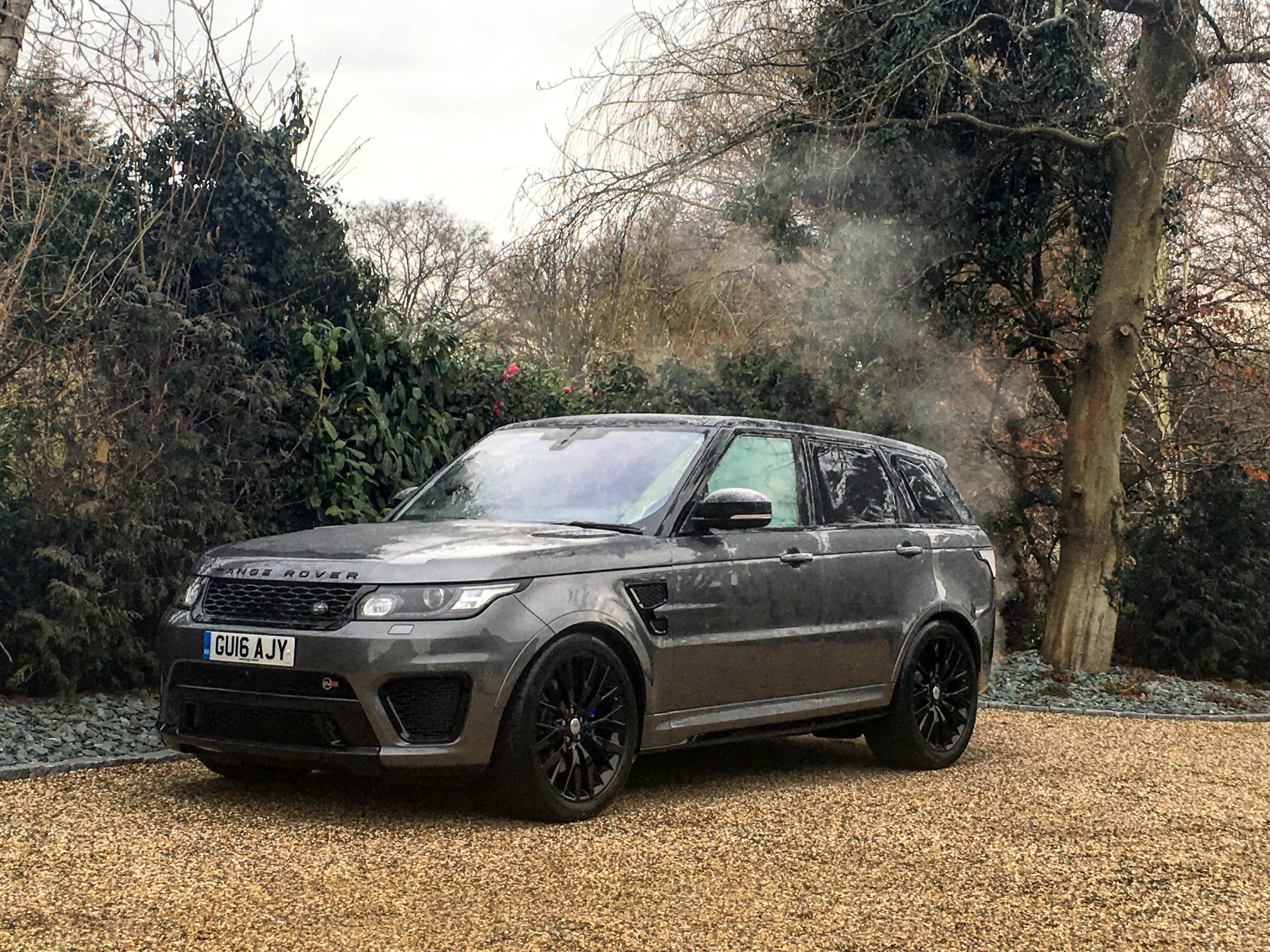 A frosty start to the day with our new Range Rover Sport ...