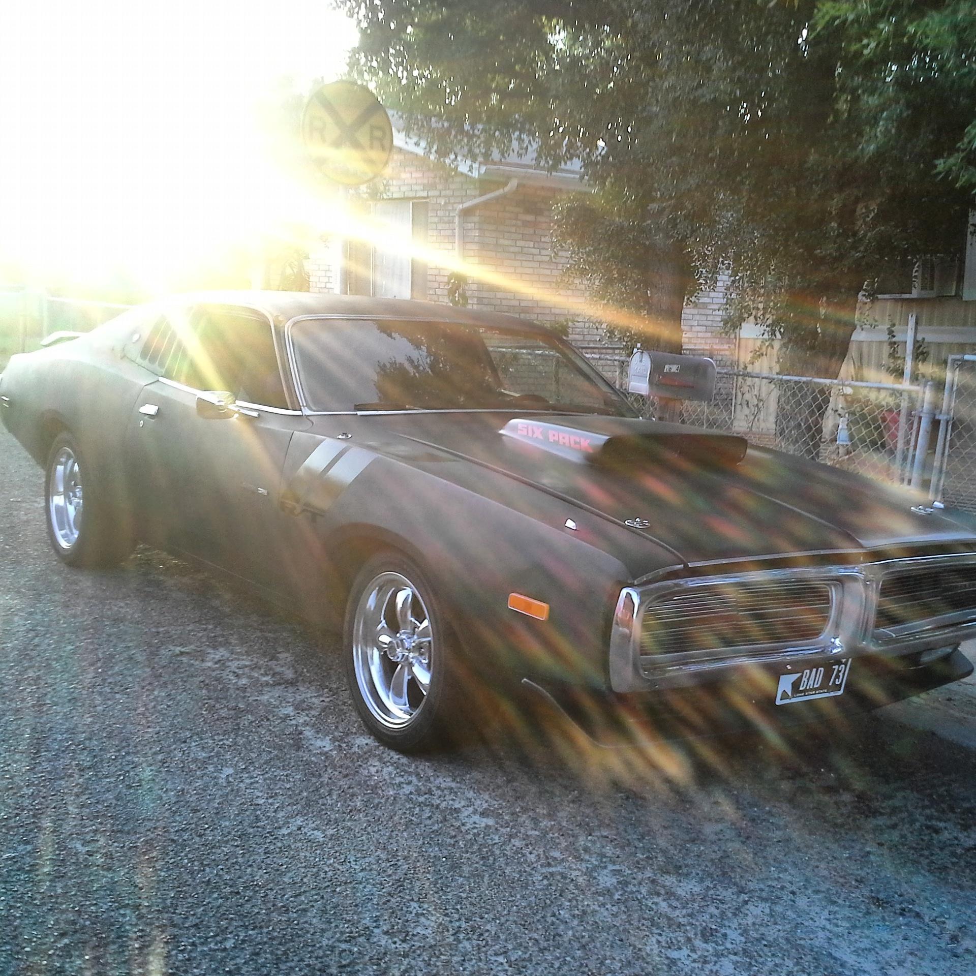 1971 Dodge Charger R T Matte Black