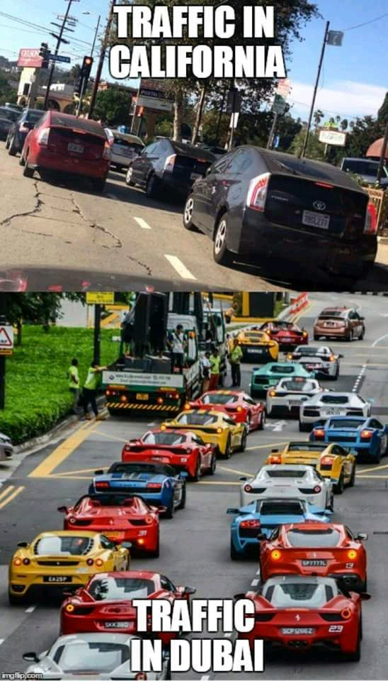 Traffic Jam In California Vs Traffic Jam In Singapore