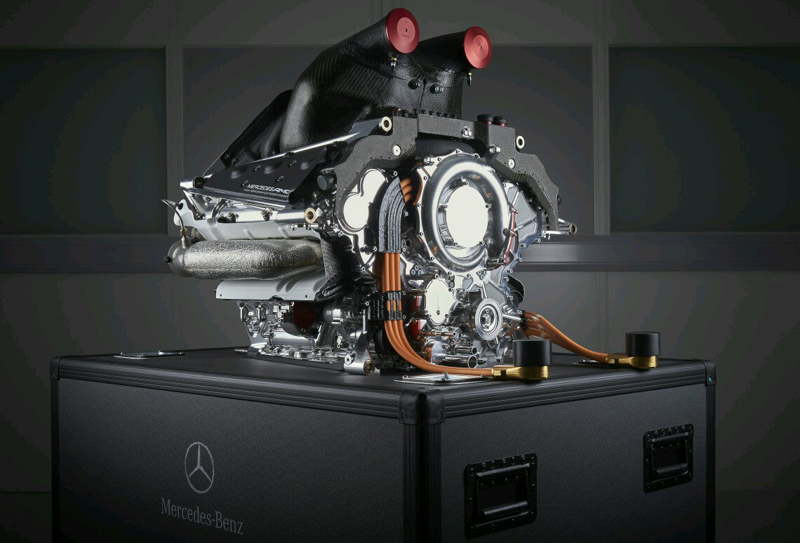 Mercedes F1 Engine The Turbos Sit Inside V So Exhaust Gas Benz