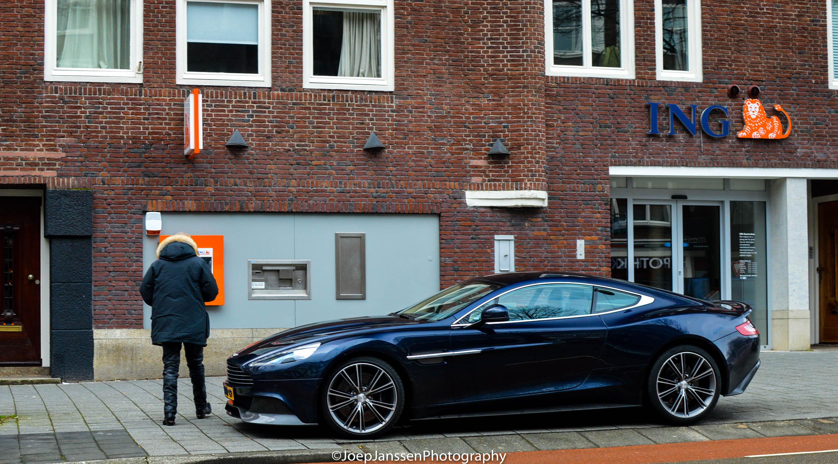 A Nice Dark Blue Aston Martin Vanquish