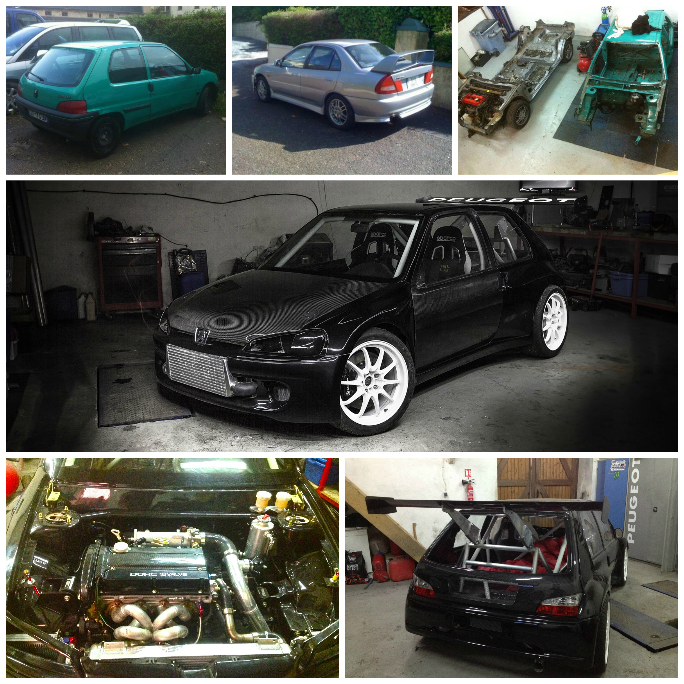 Peugeot 106 + Evo = 106 Evolution! Now this is a project car. (Full ...
