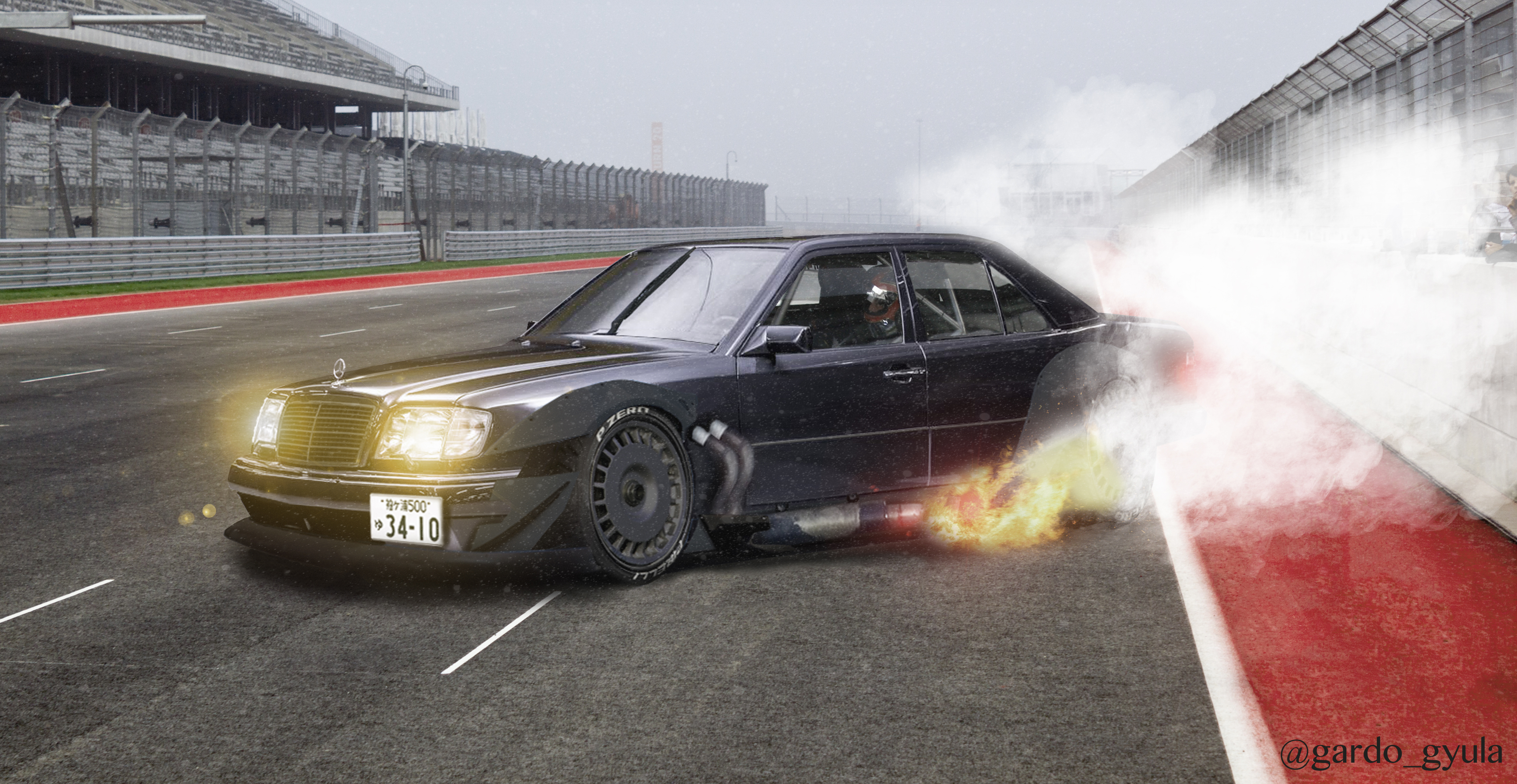 Mercedes benz w124 e60 amg jdm photoshop for Mercedes benz w124 amg