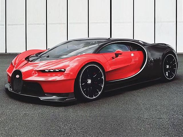 Bugatti red and black