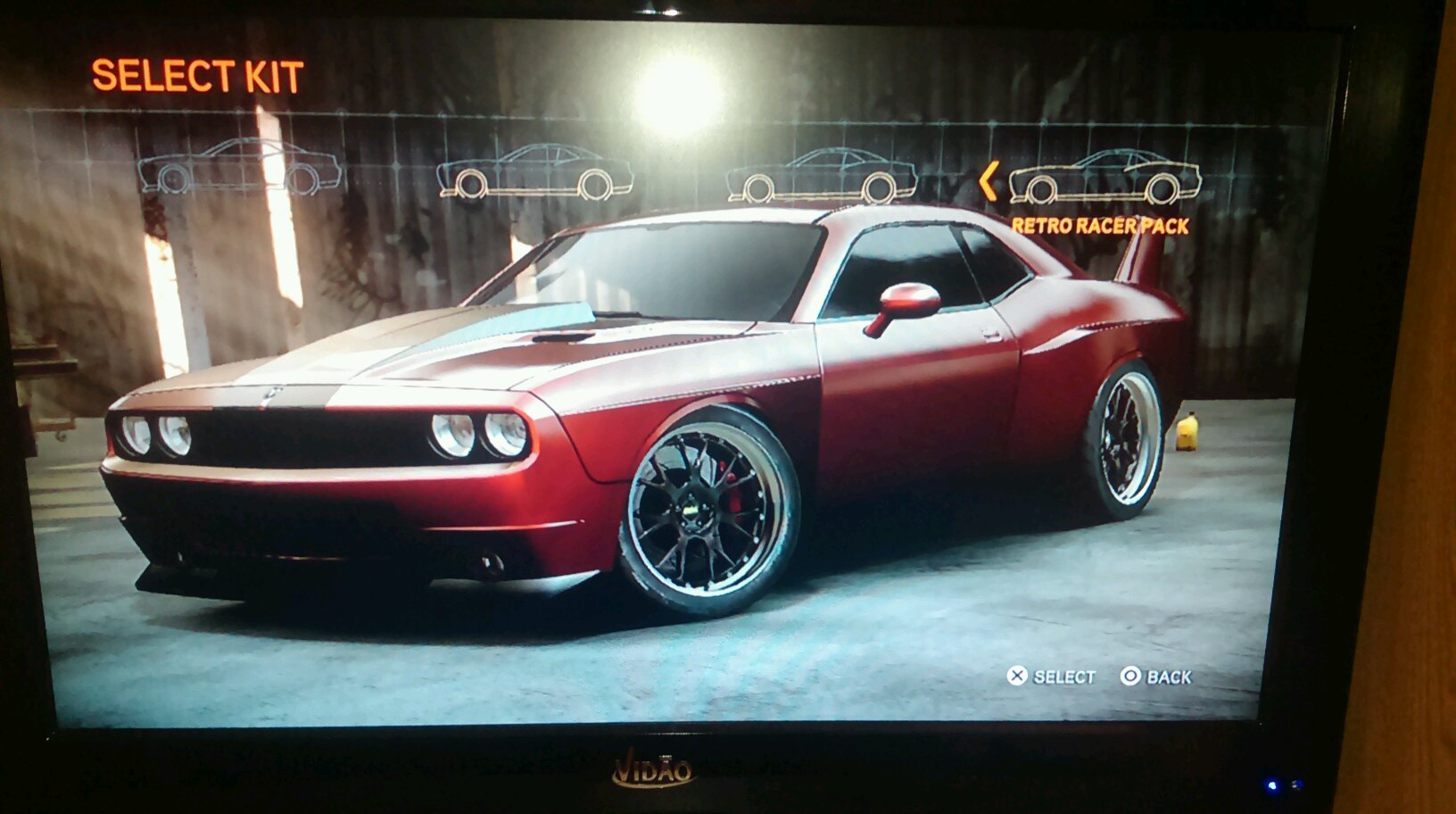 Dodge Challenger with a