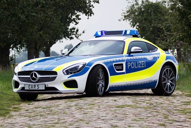 Mercedes Amg Gt S As A German Police Car