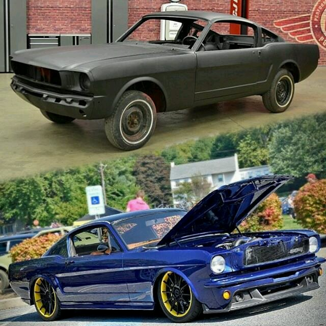 Mustang Build Before And After